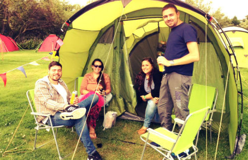 4 Person Pre-pitched Tent for Camp Cardiff
