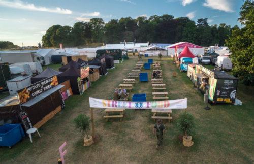 Example Food Area at Camp Cardiff